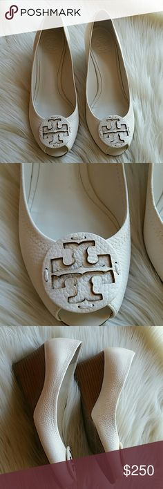 Tory burch  wedges size 9 Like new Tory Burch Shoes Wedges