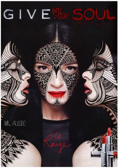 Abosulutley in love with this image. FACES by Arturo Tejeda, via Behance Drawing Faces, Drawings, Body Art, Halloween Face Makeup, Illustration Art, Typography, Behance, Costumes, Poster