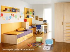 Safe, Colorful flooring for children's rooms.