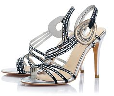 Amy Q Rhinestone Open Toe High Heel Black Sandals Handmade Slingbacks Stiletto Shoes For Party Dress *** Want additional info? Click on the image.