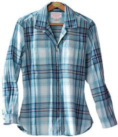 Cabela's: Filson® Women's Indigo Plaid Shirt.