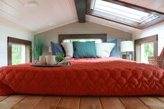 Spacious loft in this Tiny Heirloom for clients Lauren and Kalani on HGTV's Tiny Luxury.