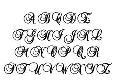 6 Inch Letter Initial  Uppercase Script Font by CarvedCommotion, $7.00