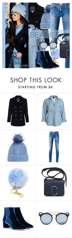 """Beanies"" by goreti ❤ liked on Polyvore featuring Saint James, Topshop, Tommy Hilfiger, Forever 21, 3.1 Phillip Lim, Aquazzura, Ray-Ban, StreetStyle, beanies and polyvoreeditorial"