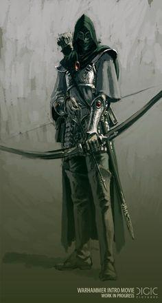 Shadow warrior masks The Master Archer Fantasy Artwork, High Fantasy, Fantasy Rpg, Medieval Fantasy, Fantasy World, Medieval Archer, Fantasy Warrior, Dnd Characters, Fantasy Characters
