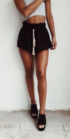 Black Jojo Shorts | #saboskirt The perfect leg loving cut @d.demicoli