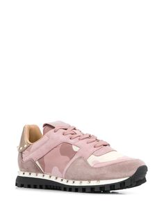 Valentino Valentino garavani camouflage print sneakers in Pink Sneakers For Sale, High Top Sneakers, Valentino Camouflage, Valentino Sneakers, Valentino Garavani, Pink, Leather, Shopping, Shoes