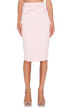 Lavish Alice Tie Front Midi Skirt in Blush