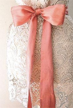 Bridal sash wedding coral pink peach wedding sash