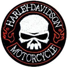 Harley Davidson Motorcycle W/Skull Patch Motorcycle Patches, Biker Patches, Motorcycle Gear, Harley Davidson Gear, Harley Davidson Motorcycles, Custom Harleys, Custom Bikes, Biker Love, Biker Chic