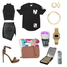 """""""Noitada"""" by vitorianeves on Polyvore featuring moda, WearAll, Bling Jewelry, Alessandra Rich, Casio e Supreme"""