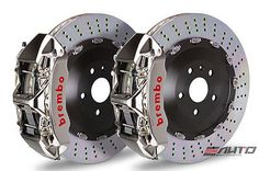 Brembo Front GT Brake 6Pot Caliper GT-R 405x34 Drill Disc 958 Cayenne S Turbo