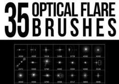 35 Optical Flare Brushes for Photoshop
