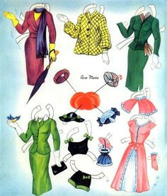 HAT BOX 1950s Style Paper Dolls Saalfield # 2610, 1954, Jeanne and Connie, ROSE MARIE, and Suzzane 4 of 6* The International Paper Doll Society by Arielle Gabriel for all paper doll and paper toy lovers. Mattel, DIsney, Betsy McCall, etc. Join me at ArtrA, #QuanYin5 Linked In QuanYin5 YouTube QuanYin5!