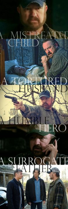 Supernatural - Bobby Singer- the original creator of these pins is brilliant, love them.  This one is for you @Christina Childress maria