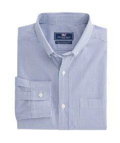 25c2698b Gilliam Back Check Classic Stretch Murray Shirt Vineyard Vines, Sports  Shirts, Plaid, Spandex