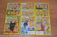 National Geographic Discovery Kids Magazine Lot of 9, Science, Animals, School