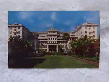 Vintage Postcard Hawaii Hawaiian Honolulu Kodachrome Moana Hotel Island Oahu