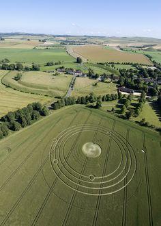 Crop circle at Avebury, Willtshire, UK
