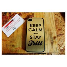 Asap rocky keep calm stay trill Apple Iphone 4   4s Hard Case found on  Polyvore 83d1f3c10b0