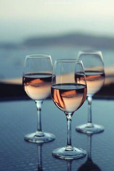 Wine glass Art Photography - Rosé glow #pink