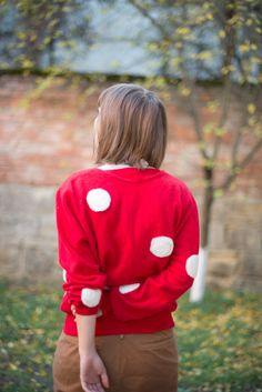 DIY: needle felted polka dot sweater