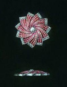 Rubel - Broche 'Etoile' - Rubis et Diamants - Croquis