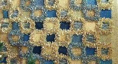 Love the texture! And always like the geometric designs, of course!   Image of a rag rug made by Deborah Hastings (course tutor)