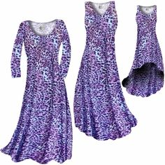 Customizable Bright Purple & Light Blue Leopard Spots Slinky Print Plus Size & Supersize Standard or Cascading A-Line or Princess Cut Dresses & Shirts, Jackets, Pants, Palazzo's or Skirts Lg to 9x #plussizedress #slinky #sanctuarie #plussizeclothing #customizable #leopard  http://sanctuarie-net.stores.yahoo.net/necubrpulibl.html
