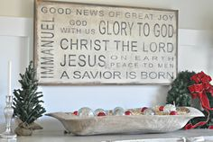Beautiful Christmas Sign - Christmas Decorating -