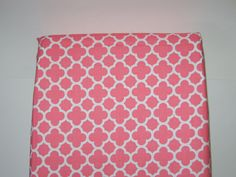 Changing Pad Cover, Coral, Quatrefoil, Geometric,Cotton, Diaper Pad Cover, Nursery, Baby Item, Toddler Item, Baby Shower Gift