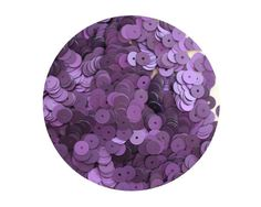 Made in USA 6mm Cup Sequins Purple Matte Silk Frost