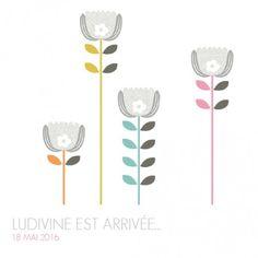 Faire part naissance Printemps scandinave - by Mr & Mrs Clynk pour fairepartnaissance.fr #fairepartnaissance #mrmrsclynk