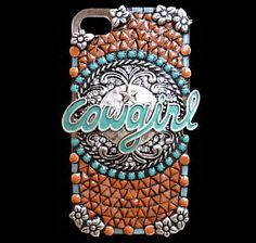 Bling Western Cowgirl Mosaic Cell Phone Case