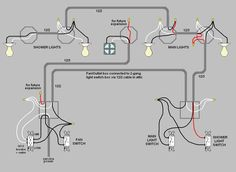 wiring diagram for multiple lights on one switch | Power Coming In on