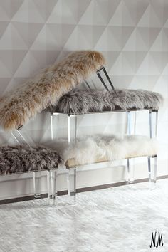 Who said benches can't be plush? Decorate your home with handcrafted accents by Massoud.