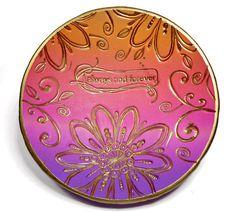Purple-Orange Sunset Wedding Ring Dish Jewelry Dish by BeadazzleMe