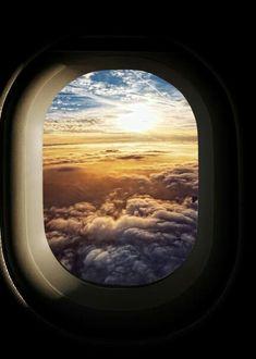 Beautiful Sunset/Sunrise in flight...