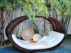 Lounge Design, Outdoor Reading Nooks, Outdoor Spaces, Outdoor Living, Outdoor Tables, Garden Furniture, Outdoor Furniture, Wicker Furniture, Furniture Sets