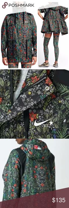 Nike NikeLab X Riccardo Tisci Floral Jacket Nike NikeLab X Riccardo Tisci Floral Jacket. 100% polyester Style Number: 827069-010 100% Polyester Mesh Lining To Hood Drawstring Hood Printed Branding 4 Front Pockets 2 Way Zip Closure.  Brand new with tags still attached.  No trades.  Price is firm. Nike Jackets & Coats