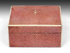 Art Deco Pink Shagreen Box, c.