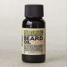 *made in America by your fellow Americans :)  Sam's Natural Olive + Rosemary Oil Beard Oil | west elm