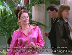 """When Karen saw an old friend. 