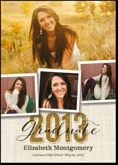 Graduation Invitations: Southern Style:Umber