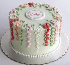The morning glory online order wa 085213384789 Buttercream Cake, Fondant Cakes, Cupcake Cakes, Pretty Cakes, Beautiful Cakes, Amazing Cakes, Bolo Floral, Floral Cake, Spring Cake