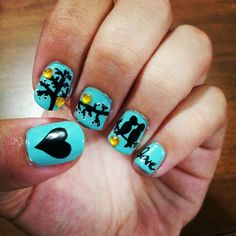 Love birds nail design!