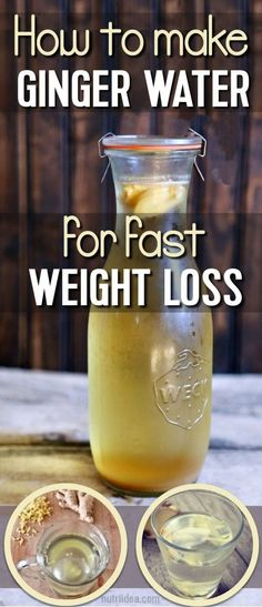 Ginger Water For Weight Loss- The Healthiest Drink That Burns Fat Like Crazy #weightlossbeforeandafter