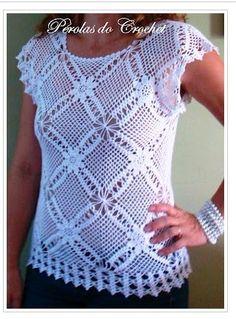 Fabulous Crochet a Little Black Crochet Dress Ideas. Georgeous Crochet a Little Black Crochet Dress Ideas. Débardeurs Au Crochet, Pull Crochet, Mode Crochet, Crochet Tunic, Crochet Woman, Filet Crochet, Crochet Stitches, Crochet Patterns, Crochet Tops
