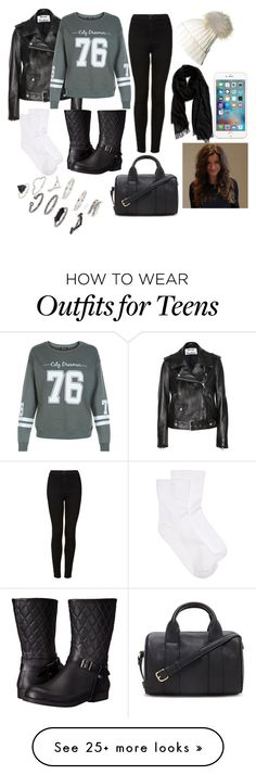 """""""Untitled #30"""" by summerfashion15 on Polyvore featuring Acne Studios, New Look, Topshop, Pajar, Hue, Nordstrom and Forever 21"""