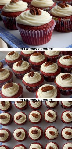 Red Velvet Cupcakes | Delicious Cooking